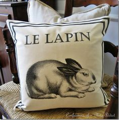 Ballard Inspired French Bunny Pillow tutorial
