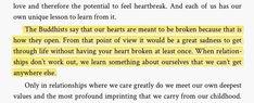 Buddhist quote about heartbreak.