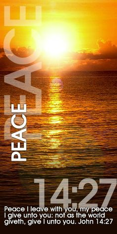 The peace that passes understanding...