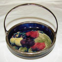 William Moorcroft 'Wisteria' basket w/handle 1918-28