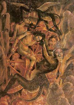 The Last Judgment, (punishment of Pride, detail) - Franco - Flemish anonymous artist 1474-1484. Fresco, 6,4 m x 15,6 m, Cathédrale Ste-Cécile (Cathedral of St. Cecilia) of Albi