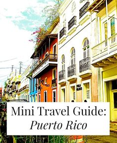 A travel guide for Puerto Rico, with insights from a local! Where to go, what to do, and how to do it cheaply, safely, awesomely! // http://yesandyes.org