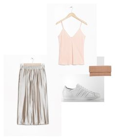 """""""Metallic Meets Pastel"""" by lottie-rose-w on Polyvore featuring adidas and Lori's Shoes"""