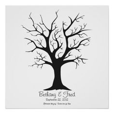 "Fingerprint Tree C - 24""x24"" Posters"