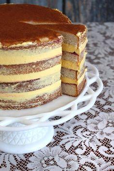 Vanilla, passion fruit, raspberry cake