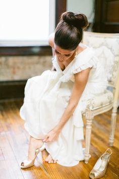 gown, winter bride