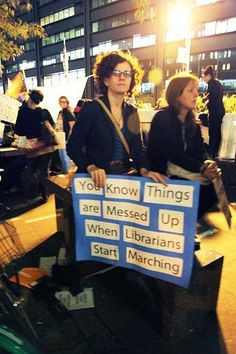 from Wall Street. Librarians rock.
