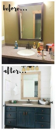 This budget friendly bathroom makeover was completed for less than $100 dollars! Can you believe it?!