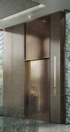 Ideas for elevator lobby seating interior design Hotel Lobby Design, Elevator Lobby Design, Design Loft, Lift Design, Hall Design, Design Design, Design Studio, Paper Design, House Design