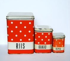 Polka dot canisters.