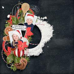 Christmas Baking by Et Designs http://shop.scrapbookgraphics.com/et-designs/ photos of my son & daughter TFL