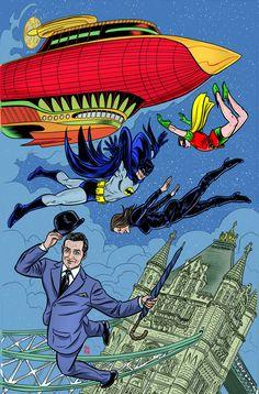 BATMAN 66 MEETS STEED AND MRS PEEL #4Un ejército de robots ha encontrado la Baticueva, y si spray anti-aceite de Batman se agota, nuestros héroes tendrá que confiar en una solución más peligroso para el problema!  Bruce Wayne paga una llamada a la señorita Michaela Gough, pero le toca a Robin, Steed y Peel para salvarlo cuando se ordena que los internautas puedan limpiar este extremo suelto.  Publicado en asociación con BOOM!  Estudios.