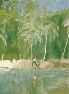 lawrenceleemagnuson:  Peter Doig (Scotland b. 1959) Pelican (2004) oil on canvas.