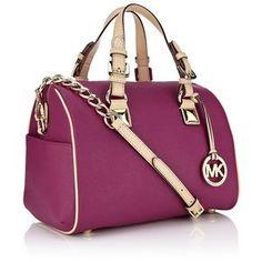 MICHAEL Michael Kors Grayson Saffiano Leather Bowling Bag