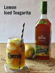 Jose Cuervo Lemon Iced Teagarita by The Sweet Spot Blog #icedtea #margarita #CuervoTeagarita
