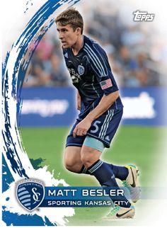 One of Matt Besler's six cards in the new Topps MLS trading card set