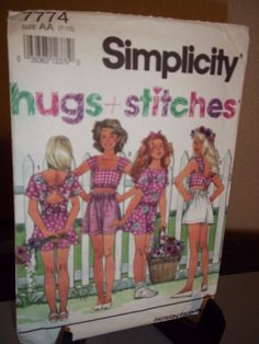 Simplicity #7774 Sewing Pattern Girls Shorts Tops Size AA 7 8 10 Uncut FF #Simplicity