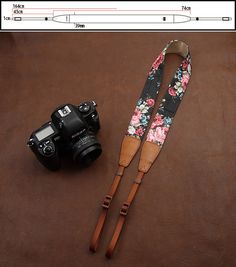 Christmas gifts Floral camera strap universal by LeslieStudio, $29.99