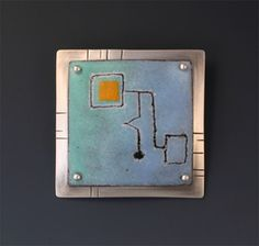 Enameled brooches and brooch/pendants - W Walsh Designs