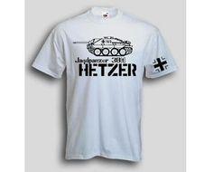 T-Shirt Hetzer  T-Shirt Jagdpanzer 38 t Hetzer. Das Hetzer T-Shirt ist in den Größen S-3XL erhältlich. Auf dem T-Shirt ist der berühmte Jagdpanzer Hetzer abgebildet. / mehr Infos auf: www.Guntia-Militaria-Shop.de