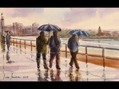 Acuarela facil 142 Lluvia Pintando con Juan Mieres - YouTube