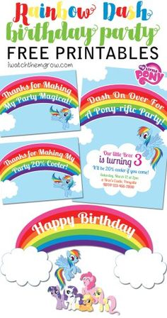Click here to download a free printable my little pony birthday free mlp rainbow dash birthday party printables filmwisefo Image collections