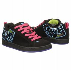 Athletics DC Shoes Women's CG SE GRAFFITI Blk/ Hot Pink/ Graff FamousFootwear.com