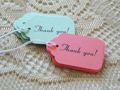 Thank you Favor Tags Wedding Thank you Tags Coral by ShopatLilys