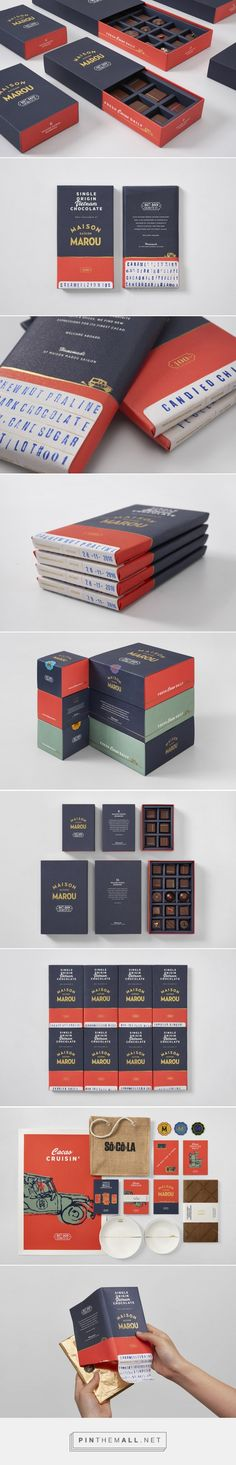 Nice Package Maison Marou Has Some Elegant Chocolate Packaging / by Rice Creative A Healthy Diet Can Bakery Packaging, Food Packaging Design, Coffee Packaging, Bottle Packaging, Cute Packaging, Packaging Design Inspiration, Brand Packaging, Branding Design, Simple Packaging