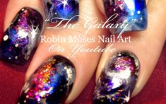 My Galaxy Space Nails #nails #nail #art #galaxy #galaxynails #galaxynailart #spacenails #nailart #glitternails