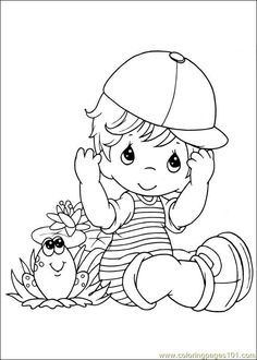 Free Precious Moments Coloring Pages | free printable coloring page 002 (Cartoons > Precious moments)