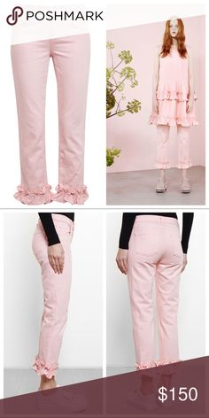 J Brand x Simone Rocha Jake Ruffle Crop Jeans *Black Friday Sale*Reg. $125*  J Brand x Simone Rocha Cropped Jake Jeans with Ruffle Detail. Rtl $371 from FarFetch. Ltd Edition, Sold out. Re-energize your denim collection with these pale-pink Jake jeans from Simone Rocha X J Brand. Cut to a relaxed silhouette, these super-soft stretch-denim jeans feature a mid-rise, five pockets and a cropped ruffled hem. Wear yours with a simple t-shirt and pointed-toe ballet flats to exude statement luxe at…