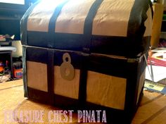 How to make a Pirate Treasure Chest Pinata out of a box