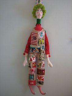 Advent elf - free sewing pattern on her blog: http://calamitykim.typepad.com/