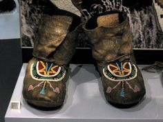 1890 Blackfoot (First Nations) Moccasins at the Royal Ontario Museum, Toronto