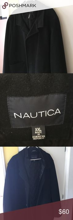Nautica Peacoat XXL Nautica Peacoat XXL in great condition. Worn less than a half a dozen times. Shell is 67% Wool, 21% Nylon, 12% Cashmere. Not needed when I moved back to Southern California. Nautica Jackets & Coats Pea Coats