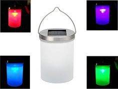 Luwint Color Changing LED Hanging Solar Light  Night Lantern with Fiber Cleaning Cloth for Garden Yard Patio Home Party Decor Red Green Blue Changing > Click for more Special Deals #SolarLights