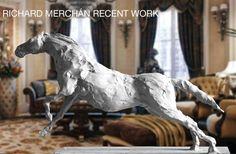 LIBERADO, bronze by Richard Merchán Lion Sculpture, Bronze, Horses, Statue, Artist, Animals, Animaux, Horse, Animal