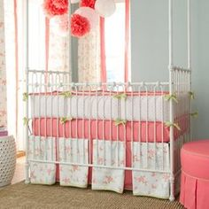 White Pagoda crib bedding by Carousel Designs #nursery #baby