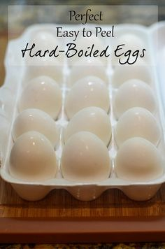 How To:  Perfect Easy to Peel Hard-Boiled Eggs #easter