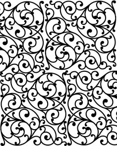 Free Printable Flourishes Adult Coloring Page