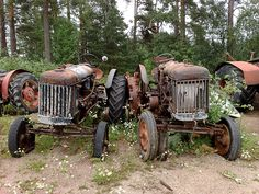 old abandoned tractors