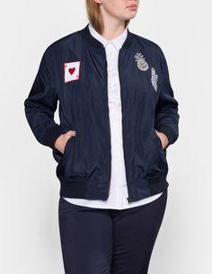 Women's Plus Size Velvet Bomber Jacket Ava & Viv Burgundy