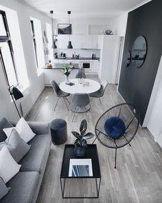 Ideas Living Room Designs Ideas Long Living Room Design Ideas For 2019 Home Room Design, Interior Design Kitchen, Living Room Designs, Living Room Decor, House Design, Dining Room, Nordic Interior Design, Kitchen Dining, Garden Design