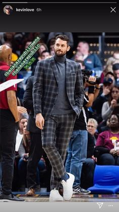 looking suave from the sidelines dressed in Nba Fashion, Fast Fashion, Mens Fashion, Fashion Outfits, Sustainable Clothing, Sustainable Fashion, Kevin Love, Mens Clothing Styles, Dapper
