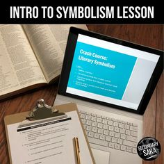 """Teach SYMBOLISM in a middle or high school English class with this """"crash course"""" lesson AND a mini-project to apply to ANY novel!"""