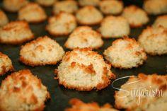 Paleo Weihnachtsbäckerei Kokosmakronen (von sugarism.de glutenfrei - laktosefrei - zuckerfrei)