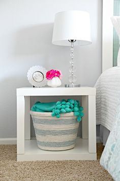 18 Dollar Store Items That Will Change the Way You Decorate   ROPE BASKET MADE FROM A $1 BASKET AND ROPE HOT GLUED ONTO IT!!!
