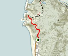 God S Thumb Trail Map Oregon Coast Camping Oregon Travel Lincoln City Oregon