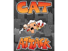 Cat Attack Illustration